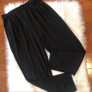 Leith Black Dress Pants Pull On Elastic Waist Sz M